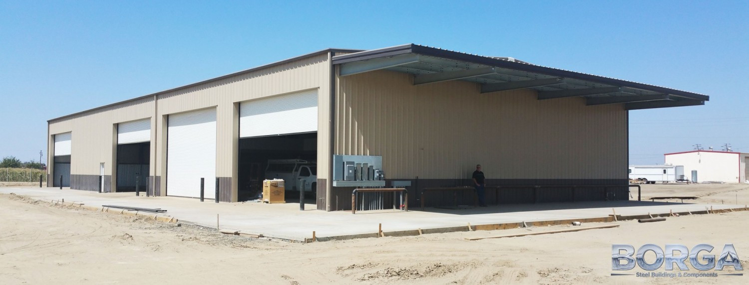 borga steel buildings roofing metal fresno ca corcoran ag farming tan brown agriculture 10