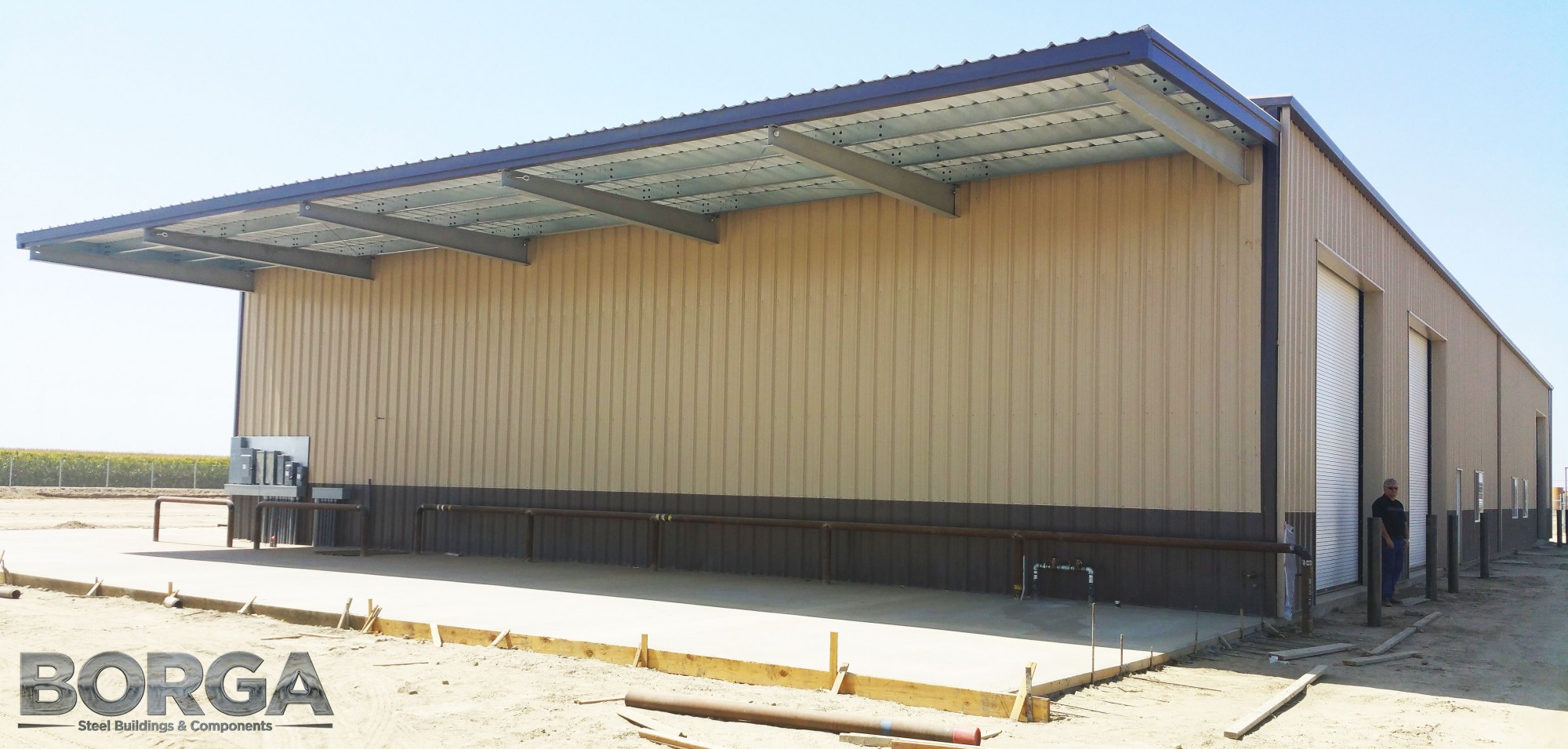 borga steel buildings roofing metal fresno ca corcoran ag farming tan brown agriculture 10 fragoso
