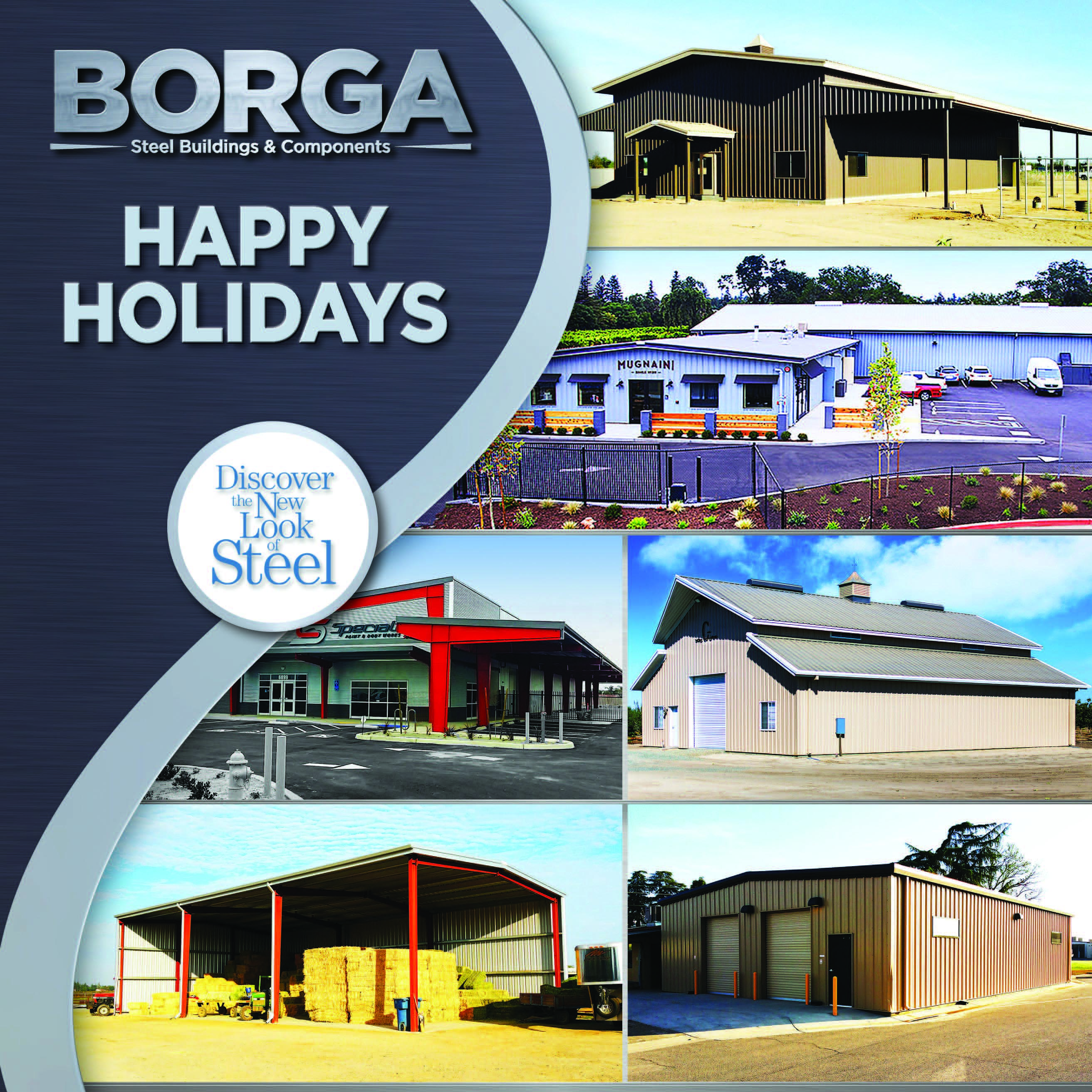 Borga steel buildings and components fresno california fowler metal building happy holidays blue texture central valley