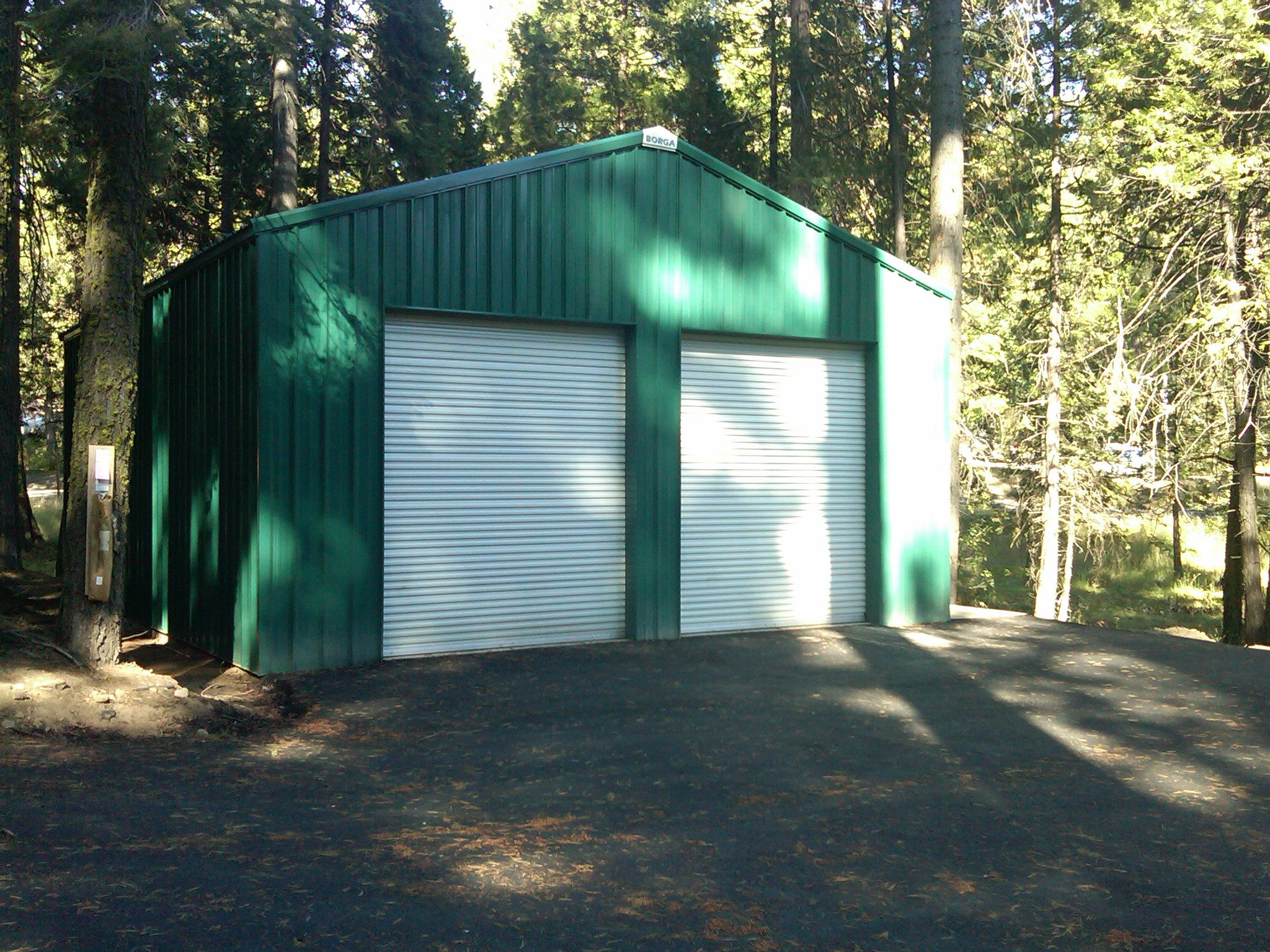 borga steel buildings components fresno ca california shed kit fowler white green forest woods trees diy do it yourself