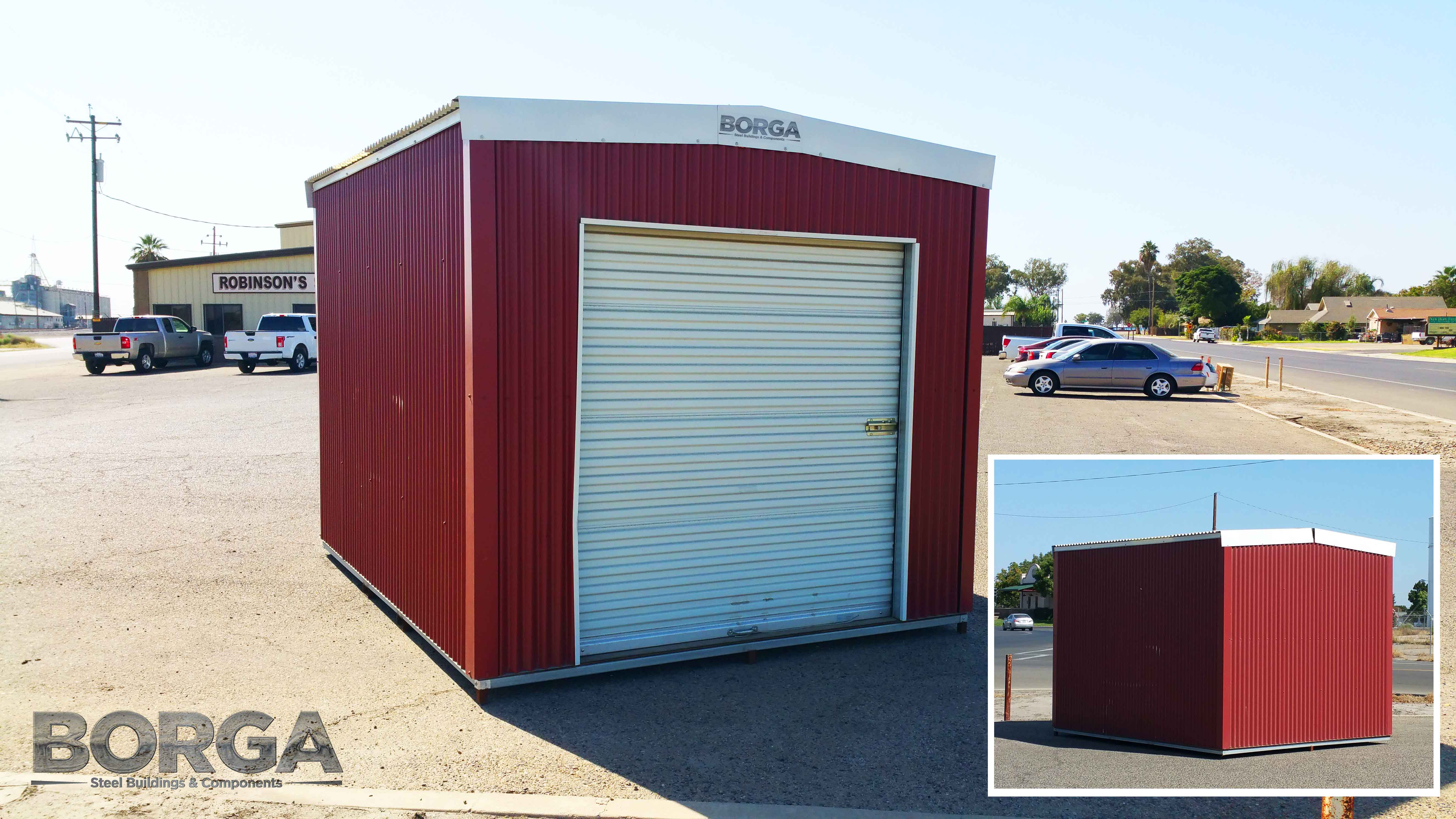 Borga shed kits borga borga steel buildings components fresno ca california shed kit fowler red white diy do it yourself solutioingenieria Images