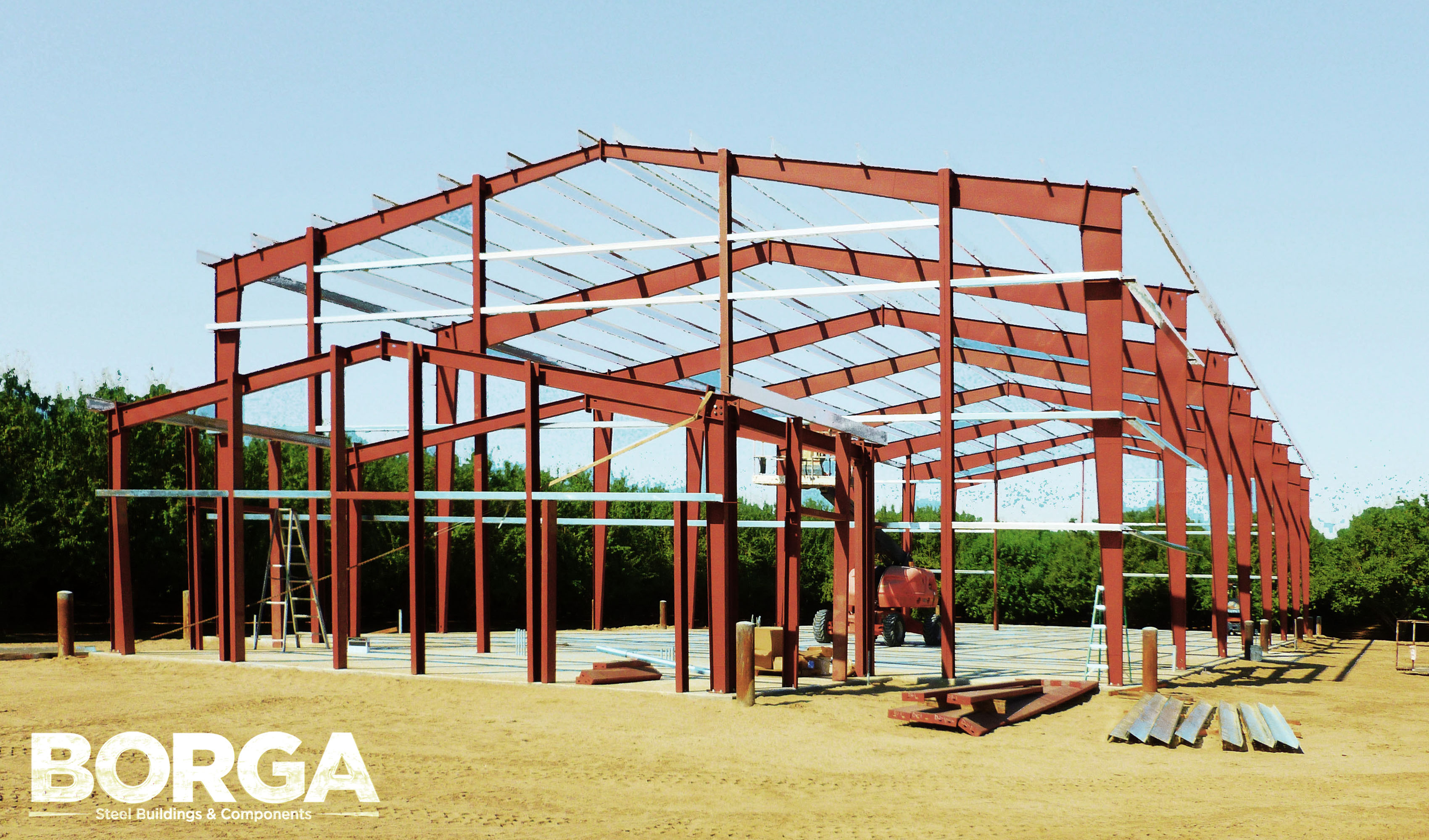 borga steel building fresno ca sheeting framing construction ag components roof