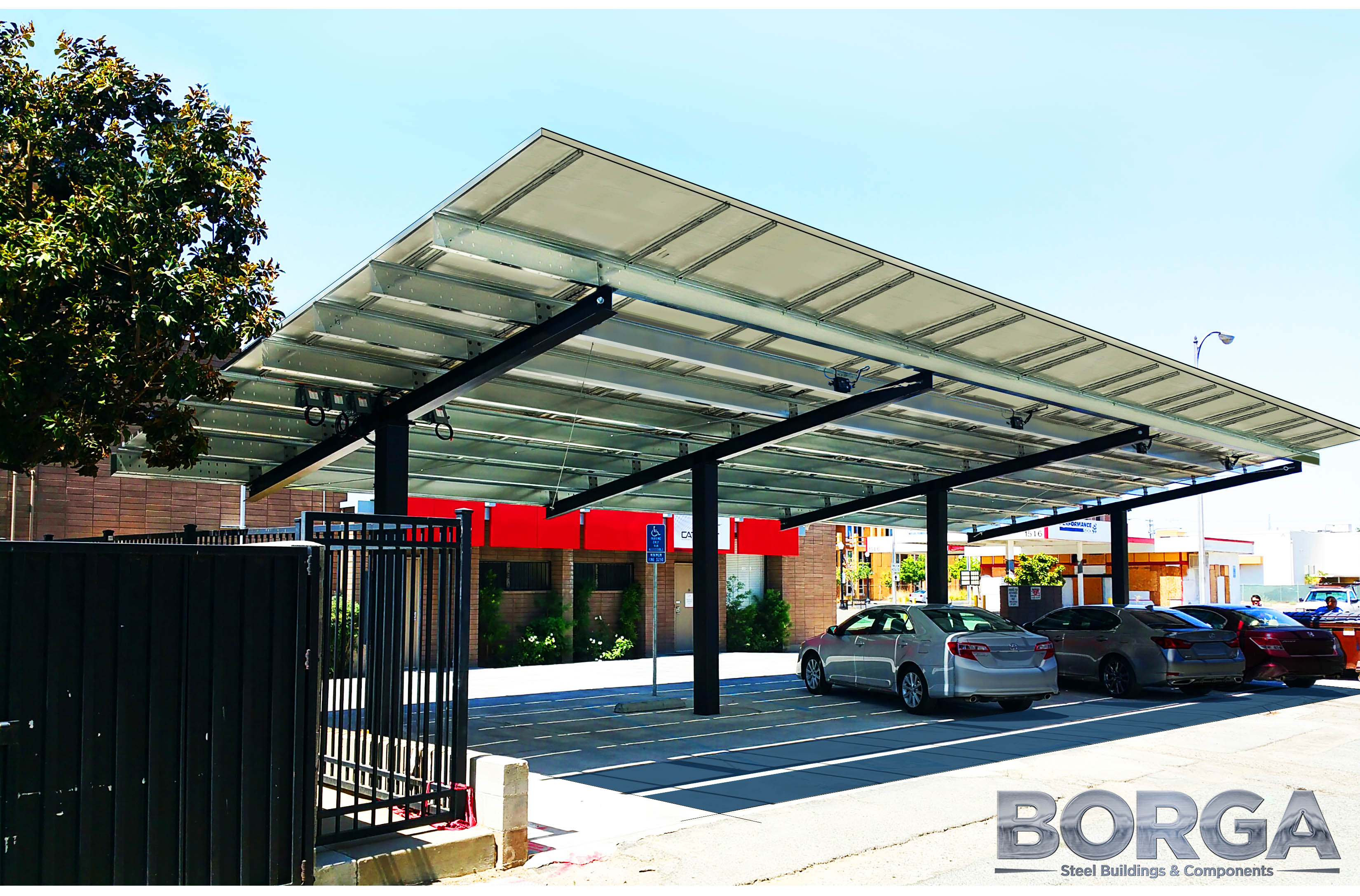 borga steel buildings components fresno california ca solar carport cover energy