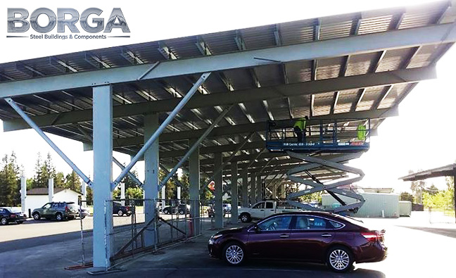 borga fresno ca steel metal building carport solar environment parking structure 2 fort washington country club