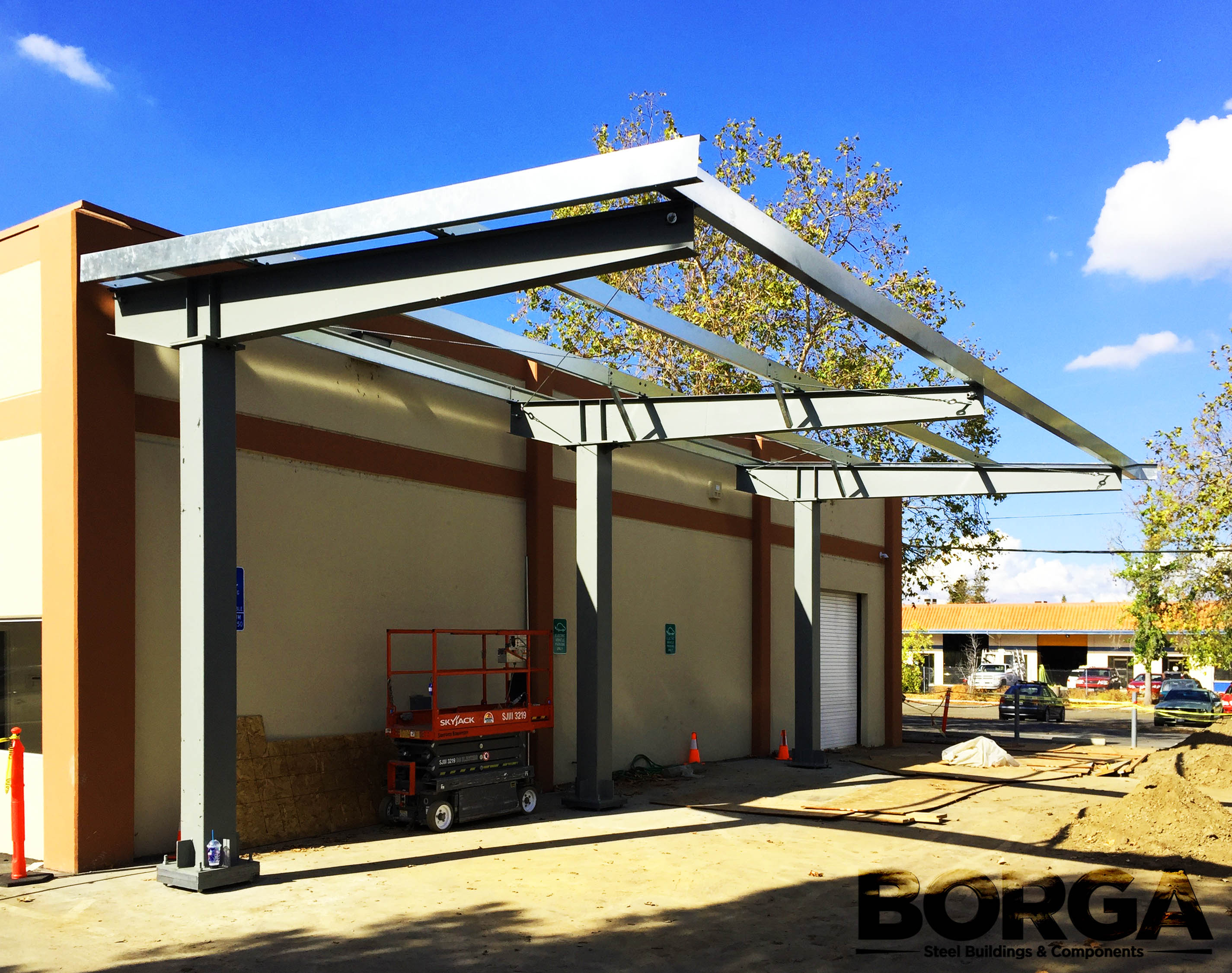 borga fresno ca steel metal building carport solar environment parking structure 1