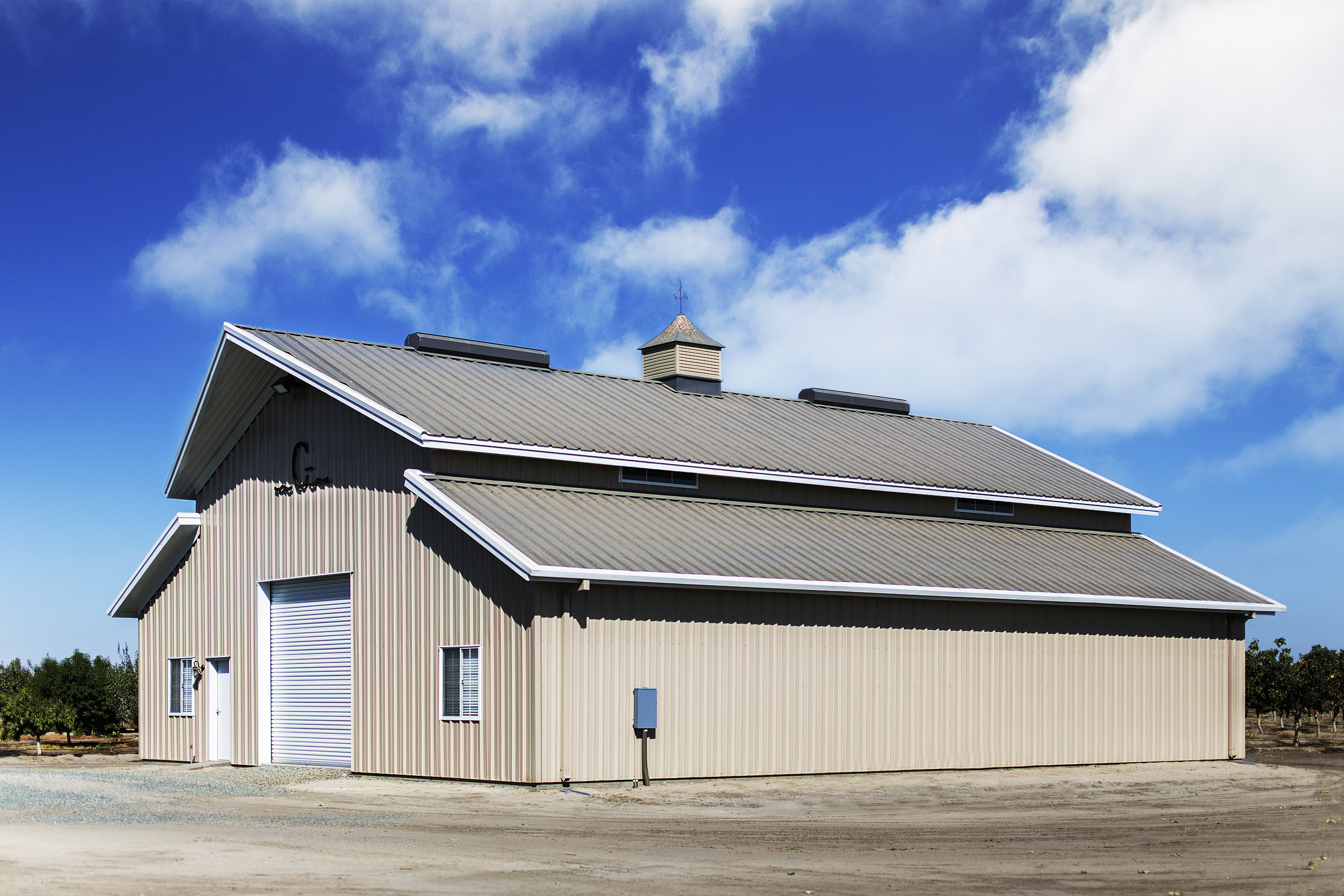 Borga fresno california steel metal buildings roofing sheeting tan grey white blue GILKEY CORCORAN