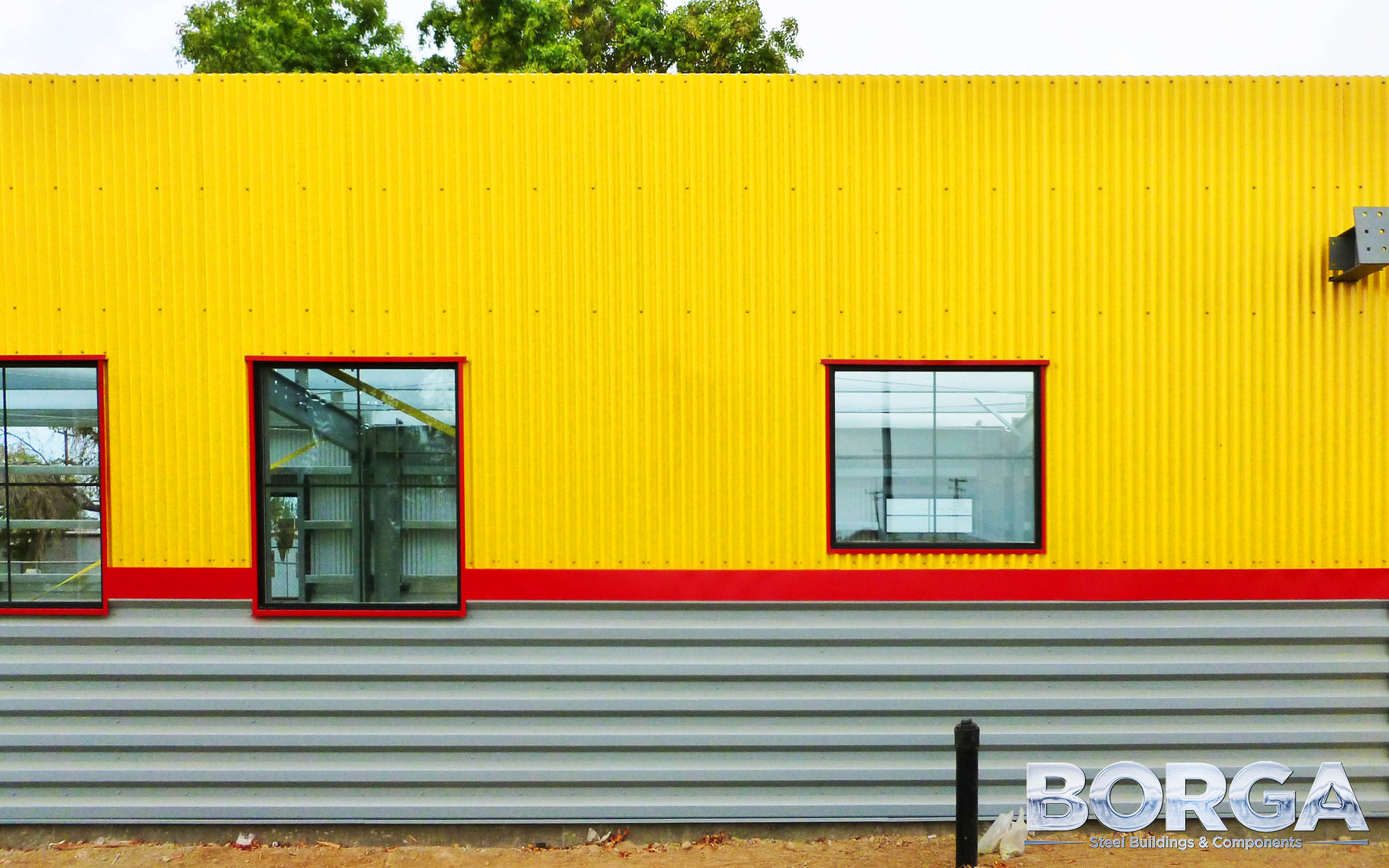 borga steel buildings components boys and girls club of fresno county huron metal yellow