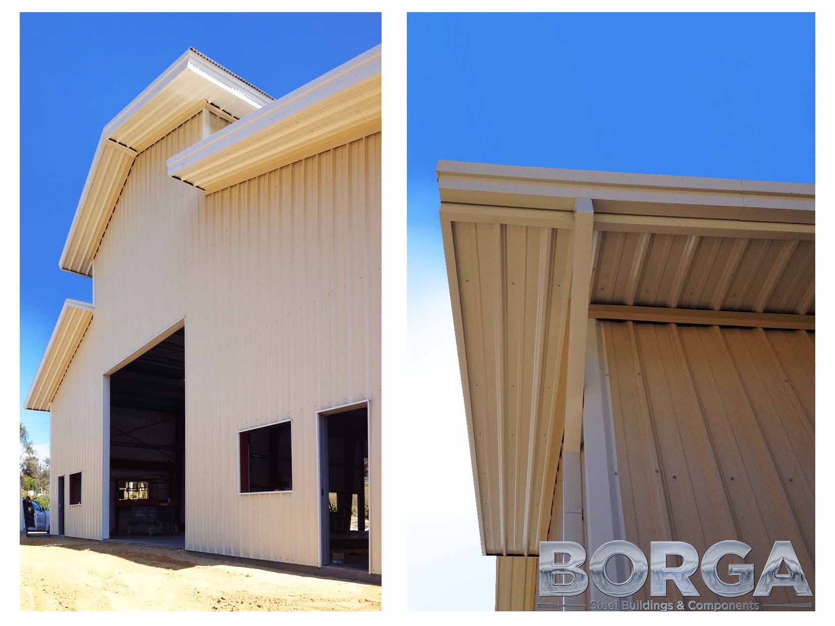 borga steel buildings components fresno california metal construction erection process contractor framing