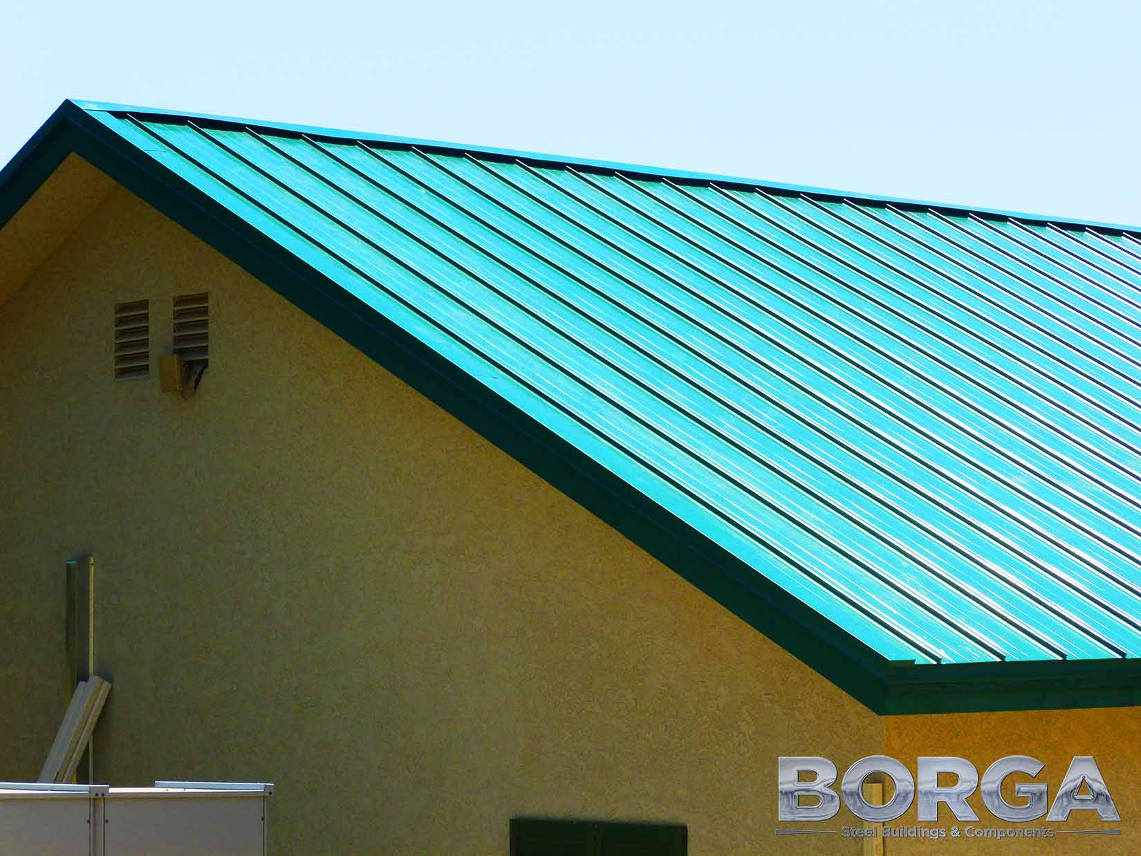 borga steel buildings components metal roof tioga panel green
